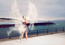 Blown away Blonde Stock Photo