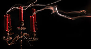 Blown candle and candlestick 1 Royalty Free Stock Photos