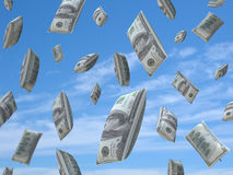Blown dollar goes up Royalty Free Stock Images
