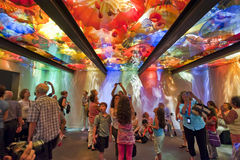 Blown glass ceiling by Dale Chihuly Stock Photography
