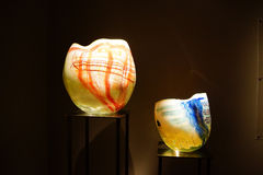 Blown glass inspired by Native American baskets Stock Photo