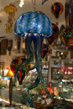 Blown glass jellyfish. Hanging blown glass Royalty Free Stock Image