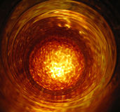 Blown glass vase. Photo of glass vase in the forming process Stock Photography