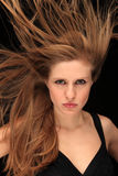 Blown hair Stock Photography