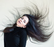 Blown hair Royalty Free Stock Photo