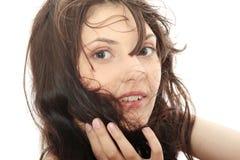 blown hairs woman Στοκ φωτογραφία με δικαίωμα ελεύθερης χρήσης