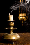 Blown out candle Royalty Free Stock Photos