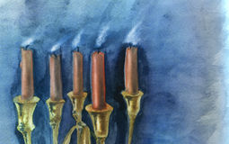 Blown out candles Royalty Free Stock Photo