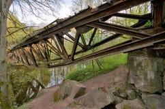 Blown up bridge near Jastrowie, Poland Stock Photos