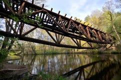 Blown up bridge near Jastrowie, Poland Stock Images