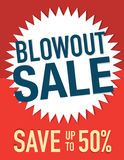 Blowout Sale. Sign save up to 50% off Stock Photos