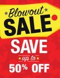 Blowout Sale Stock Photo