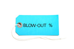Blowout Sale Tag Stock Images