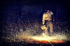 Blowpipe Welding Royalty Free Stock Photography
