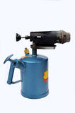 Blowtorch. A blue blowtorch on a white background Stock Image