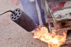 Blowtorch on fire Royalty Free Stock Photos