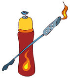 Blowtorch Vector Illustration. Royalty Free Stock Photos
