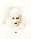 blsck bsckground小丑纵向射击工作室 库存照片