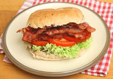 BLT or Bacon, Lettuce & Tomato Roll Royalty Free Stock Image