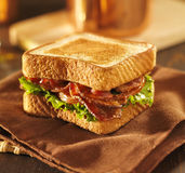 BLT bacon lettuce tomato sandwich Royalty Free Stock Images