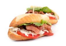 BLT chicken sub sandwich Stock Image