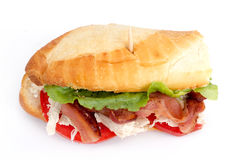 BLT chicken sub sandwich Stock Images