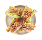 BLT On Dish Top Stock Photo
