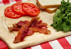 Blt ingredients on a cutting board Stock Photography