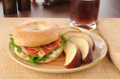 BLT sandwich with an apple Royalty Free Stock Photography