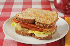 BLT Sandwich with an apple Royalty Free Stock Photos