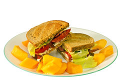 BLT Sandwich With Cantaloupe Stock Image