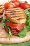 BLT sandwich with fresh ingredients Royalty Free Stock Image