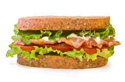 BLT Sandwich isolated on white Stock Photos