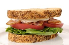 BLT sandwich on white background Royalty Free Stock Photos