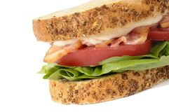 BLT sandwich on white background Stock Image