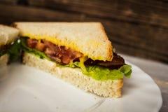 Blt sendwich με το αυγό Στοκ εικόνες με δικαίωμα ελεύθερης χρήσης
