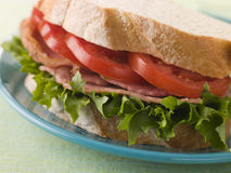 BLT on white bread Royalty Free Stock Photos