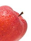 Blöta röda Apple Royaltyfria Bilder