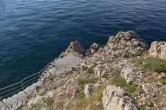 Blått Adriatiskt hav, Kroatien Fotografering för Bildbyråer