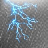 Blått blixt och regn 10 eps Fotografering för Bildbyråer