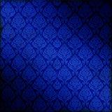 blått damastast seamless Arkivbilder