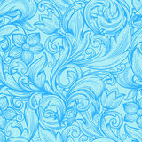blått dekorativt Arkivbild