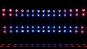 blått för ÖGLA för vertikal scanning 4K för etapp för ljus kula 3d röda stock video