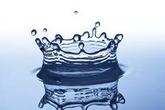 blått färgstänkvatten Royaltyfria Bilder