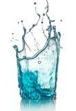 blått färgstänkvatten Royaltyfria Foton