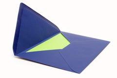 blått kuvert Fotografering för Bildbyråer