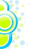 Blått och gräsplan cirklar design Royaltyfri Fotografi