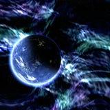 blått planet Royaltyfri Fotografi