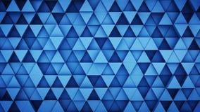 Blått pressad ut triangelhipsterbakgrund 3D framför Fotografering för Bildbyråer