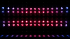 blått-röd ÖGLA för vertikal scanning 4K för etapp för ljus kula 3d arkivfilmer